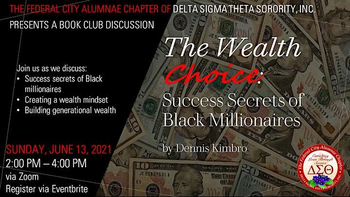 The Wealth Choice:  Success Secrets of Black Millionaires by Dennis Kimbro image