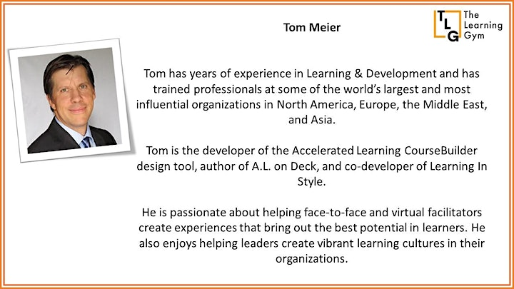 Accelerated Learning Certificate in Virtual Training image