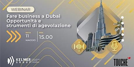 Fare business a Dubai - Opportunità e strumenti di agevolazione biglietti