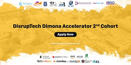DisrupTech Dimona Accelerator 2nd Cohort tickets