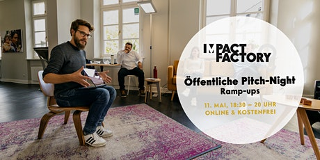 Öffentliche Pitch-Night: Ramp-ups der Impact Factory Tickets