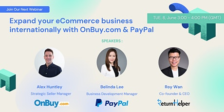 Expand your ecommerce business internationally with OnBuy.com and PayPal entradas