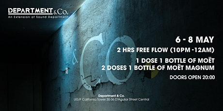 2 HOURS FREE FLOW @ Department & Co. tickets