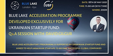 Blue Lake & USF acceleration programme: Q&A session with David Gilgur tickets