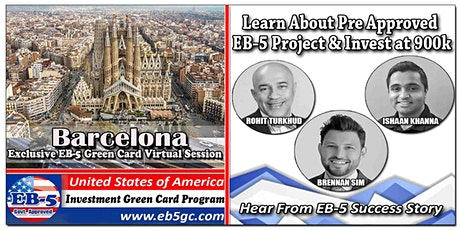 Barcelona EB-5 American Green Card Virtual Market Series entradas