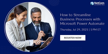 Webinar - Streamline Business Processes with Microsoft Power Automate tickets
