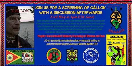 Peoples' Internationalist Solidarity Groundings of Gbetowo and Sami tickets