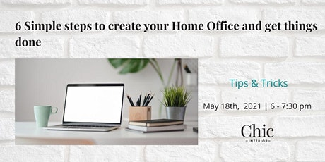 6 - Simple steps to create your dream Home Office and get things done biglietti