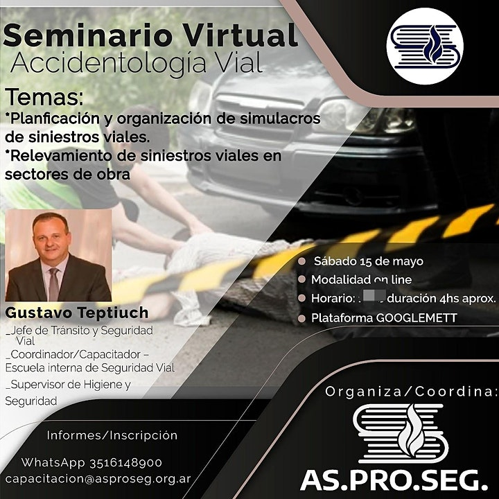 Imagen de Seminario Virtual Accidentologia Vial