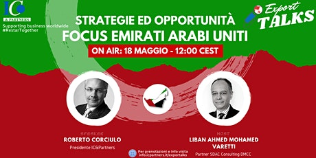 Export Talks - Focus Emirati Arabi Uniti biglietti