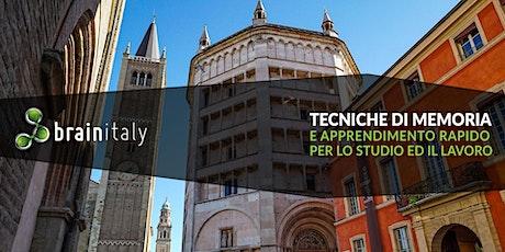 Parma: Corso gratuito di memoria biglietti