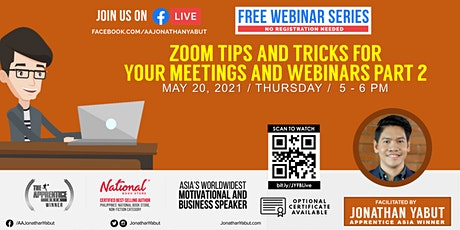 Zoom Tips and Tricks For Your Meetings & Webinars, Part 2 tickets