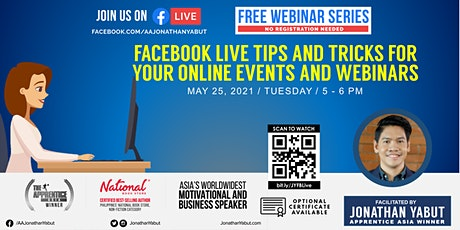 Facebook Live Tips & Tricks for your Online Events & Webinars tickets
