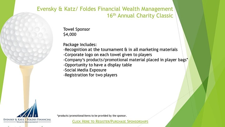 Evensky & Katz/ Foldes Financial - 16th Annual Charity Classic image
