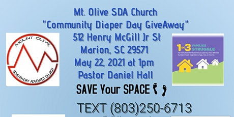 Mt. Olive SDA Church~ Community Diaper Day GiveAway tickets