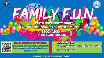 FAMILY FUN:  Faith University Night Wednesday tickets
