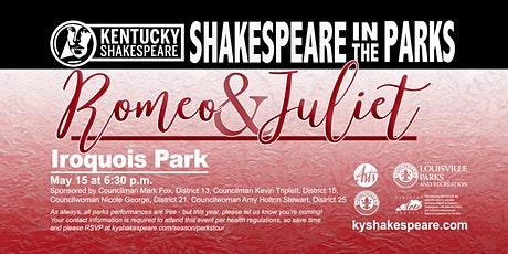 Shakespeare in the Parks Romeo and Juliet at Iroquois Park tickets