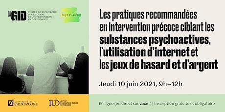 Projet IP-Jeunes : Les pratiques recommandées en intervention précoce billets