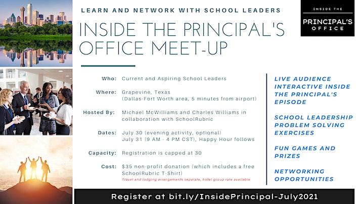 Inside the Principal's Office Meet-Up Registration (July 30-31, 2021) image