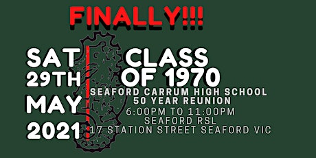 50 Year Reunion (Since We Started @ Seaford Carrum High School) tickets