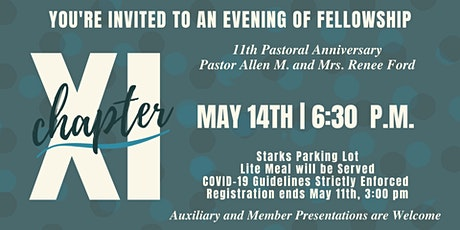 Pastor Allen M. and Mrs. Renee Ford's  11th Pastoral Anniversary tickets