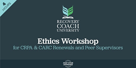 4 Hr. Ethics Workshop  for CRPA and CARC Renewal (September 2021) tickets