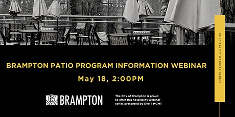 Brampton Patio Program Information Webinar tickets