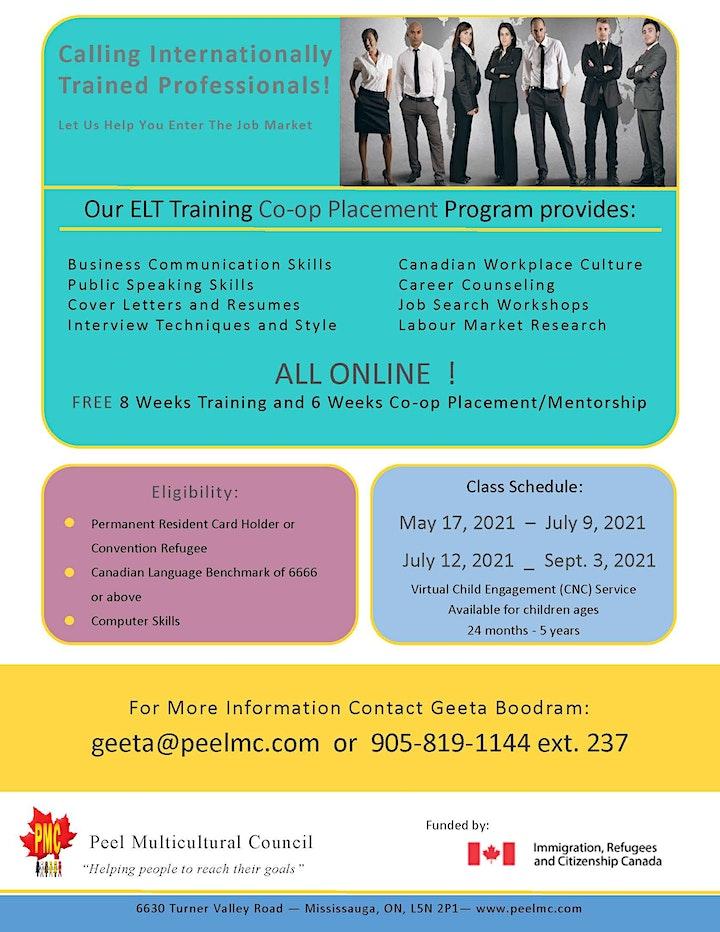 FREE on-line Training co-op placement/mentorship program image
