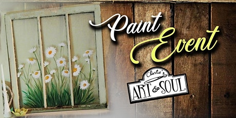 Paint Event @ Needle in the Haystack, LLC Daisies on Old Window tickets