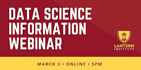 Online Data Science Information Webinar biglietti