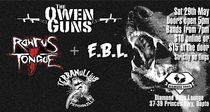 Owen Guns +  Rawrus Tongue + Terranullius + E.B.L. image