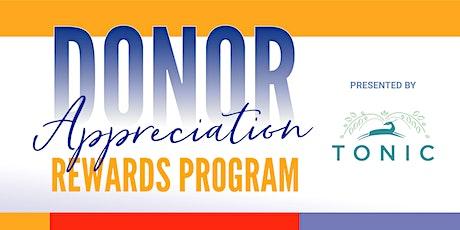 Donor Appreciation Rewards Program - Yoga with Tonic tickets