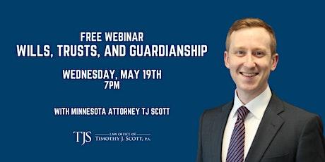 Free Webinar: Wills, Trusts, and Guardianship tickets
