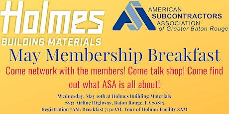 May Membership Breakfast tickets