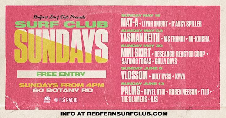 *POSTPONED* Surf Club Sundays: MAY-A + Liyah Knight + Kirsten Salty image
