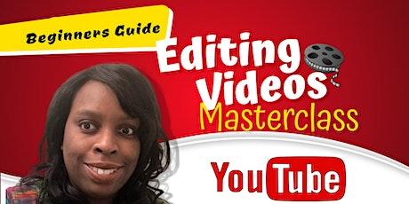 Beginners Guide to Editing YouTube Videos Masterclass biglietti