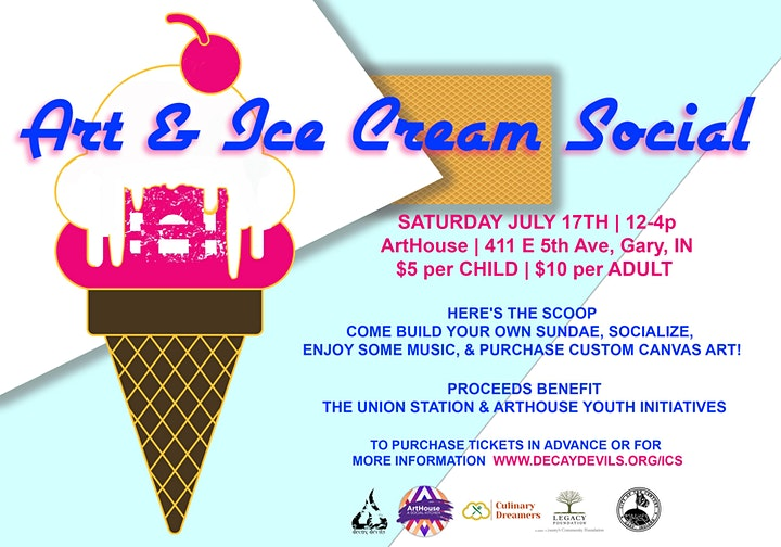 Art x Ice Cream Social - Benefiting Union Station  & ArtHouse Youth Events image
