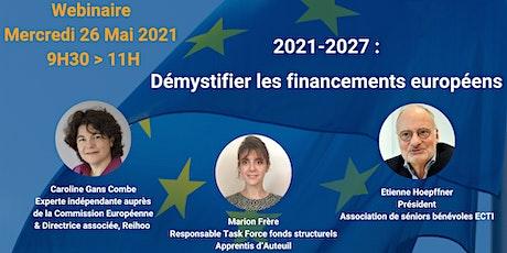 Webinaire  -  Les Fonds Européens billets
