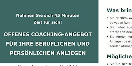 Online-Coaching-Angebot für Ihre beruflichen und persönlichen Anliegen Tickets