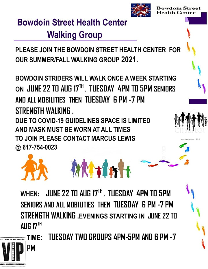 Bowdoin Street Health Center  BOWDOIN STRIDERS walking group image