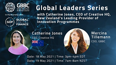Global Leaders Series with Catherine Jones, CEO, Creative HQ (New Zealand) tickets