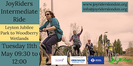 Intermediate led ride for women -Leyton Jubilee Park to Woodberry Wetlands tickets