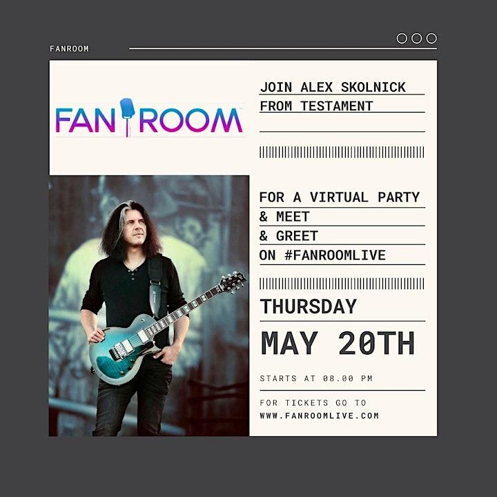 Alex Skolnick of TESTAMENT hosts FanRoom Live Thursday May 20th image