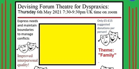 Devising Forum Theatre for Dyspraxics.  Theme: Family tickets