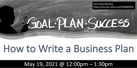 HOW TO WRITE A BUSINESS PLAN (FREE ZOOM WORKSHOP) tickets