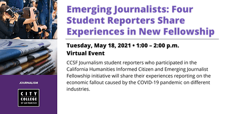 Emerging Journalists:  Student Reporters Share Fellowship Experiences tickets