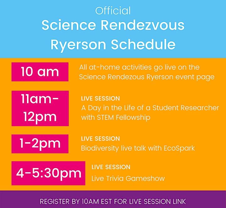 Science Rendezvous 2021 @ Ryerson University image
