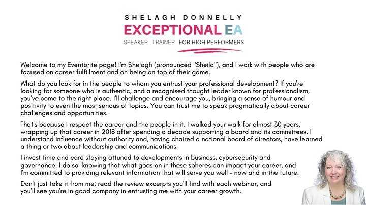 Professional Presence: How to Assert & Promote Yourself, w/Shelagh Donnelly image