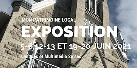 Exposition photo Mon patrimoine local 2021 billets
