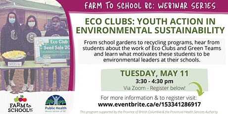 Webinar Series - Eco Clubs: Youth action in environmental sustainability tickets